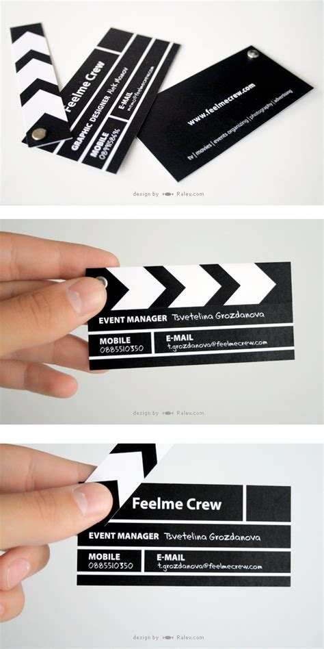 clapperboard business card template clapperboard business card