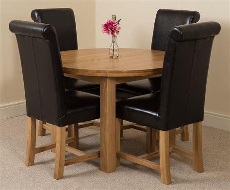 King Furniture Dining Table Edmonton Dining Set 4 Black Chairs Oak Furniture King