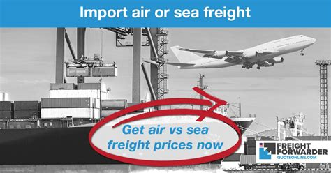 air vs sea freight quote import freight calculator usa og ffqo us