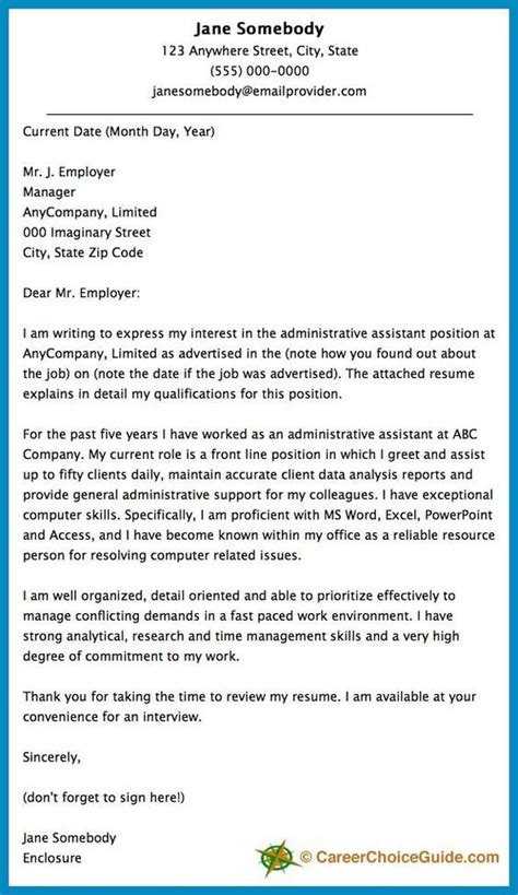 best 25 cover letter sle ideas on cover letters cover letter exle and cover