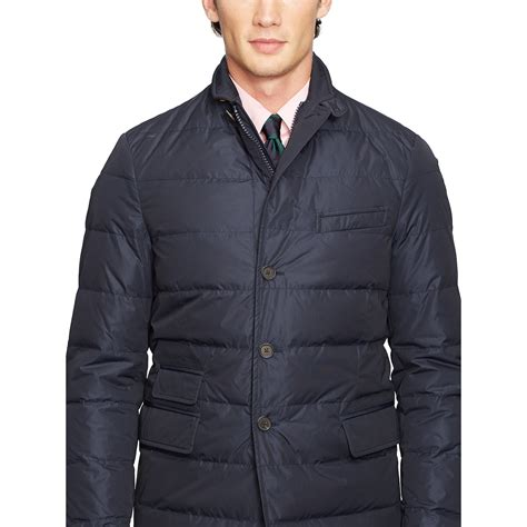 Mens Quilted Sport Coat by Polo Ralph Quilted Sport Coat In Blue For