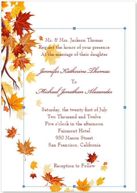 Fall Printable Wedding Invitation Templates | diy fall wedding invites gerbera daisy wedding