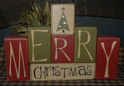 items similar to merry christmas tree primitive wood sign