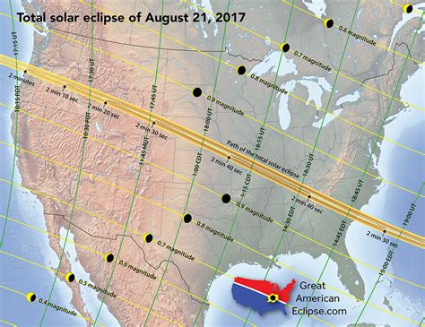 map of oregon path of totality great american eclipse announces 10 best places to view