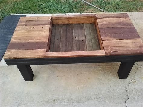 Planter Box Table by Pallet Coffee Table With Planter Box Pallet Furniture