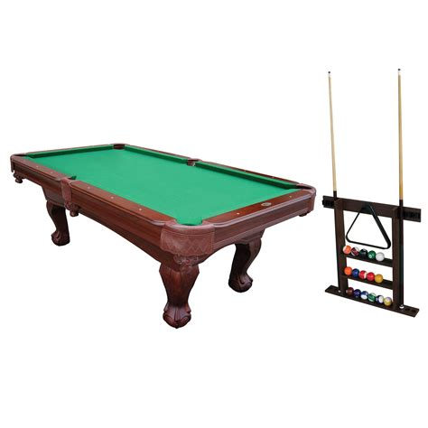 pool table cues sportcraft 1 1 32 932 90in kingsford billiard table with cue rack sears outlet