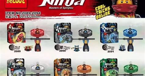 Brick Block Bootleg Pogo Xinh Dlp Decool Sy Tanpa Dus 65 downtheblocks decool 2089 2094 tlnm ninjago spinjitzu spinner toys with minifigs preview