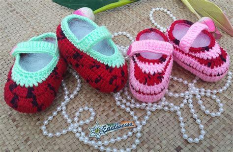 Sepatu Rajut Bayi 3 benang rajut baby akwool crafts
