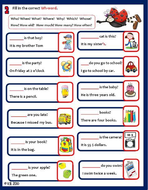 ejemplos de preguntas con wh words wh questions interactive worksheet