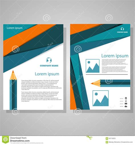 vector brochure flyer design layout template in a4 size vector brochure flyer design layout template size a4