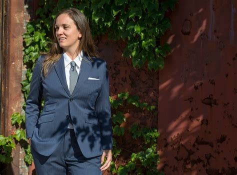 a suit designed to make transgender men and butch women