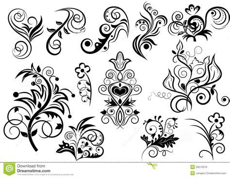 design flower black and white black and white floral design stock vector illustration