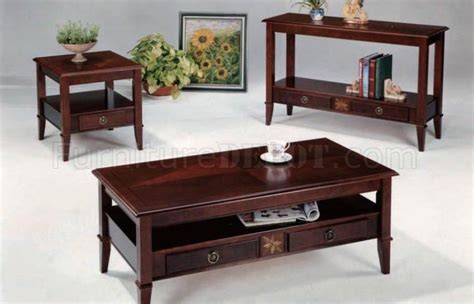 cherry finish coffee table cherry finish modern coffee table w drawers options