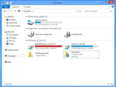 drop box windows 8 come aggiungere cartelle personalizzate in risorse