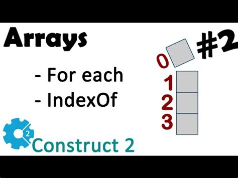 Array Tutorial Construct 2 | construct 2 array plugin 2 for each indexof melhor