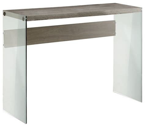 contemporary glass sofa table console table cappuccino with tempered glass