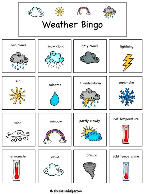 printable games weather weather mega pack the autism helper