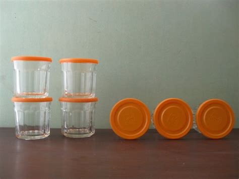 Seven Vintage French Jelly Jar Glasses/Working Glasses with
