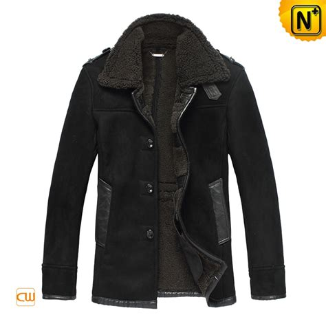 40199 Black Lined Tight Size S mens winter fur leather coat cwmalls