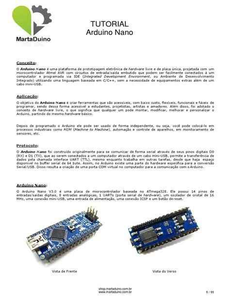 arduino nano tutorial pdf martaduino tutorial arduino nano