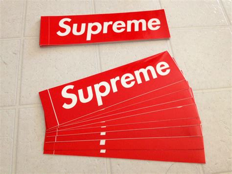 supreme stickers how to get free supreme stickers in the mail worldwide