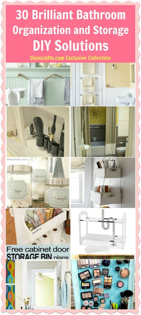 diy solutions diy crafts bathroom organization and storage