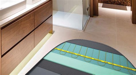 underfloor heating bathroom cost a guide to wet and electric underfloor heating for wood