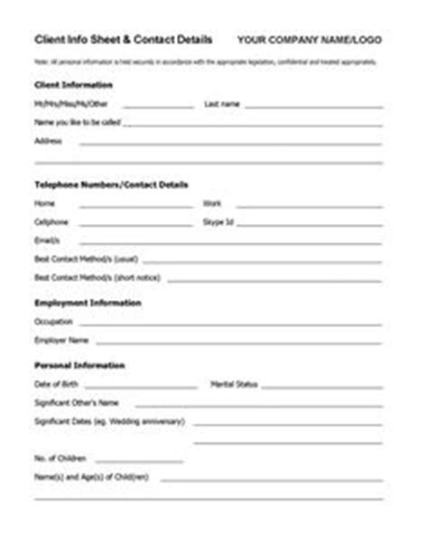 use this simple customer information template to keep a