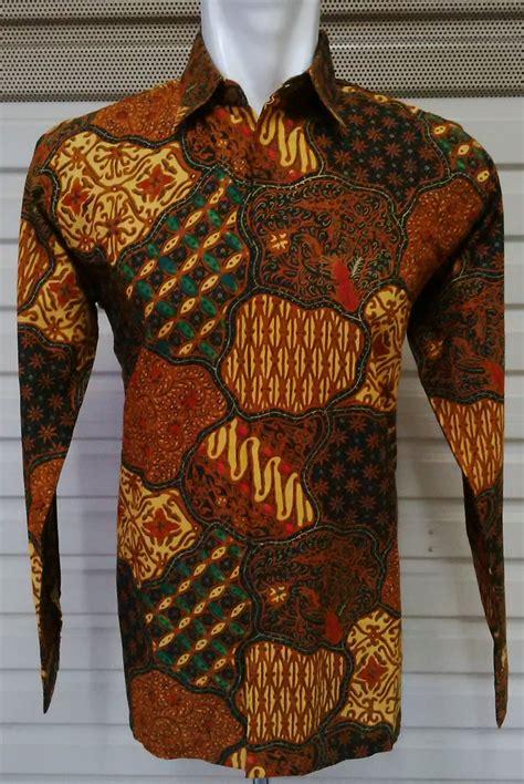 Batik Cap Primis 12 amanlase on quot kemeja lengan panjang batik cap kombinasi colet sogan ada 13
