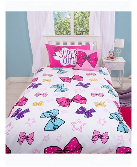 this official jojo siwa bows single bedding set is