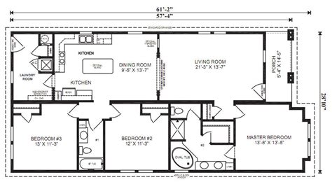Ranch Home Layouts by The Venice Modular Home Floor Plan Jacobsen Homes