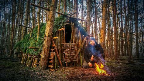 hutte primitive primitive technology wood roof hut fanvideo