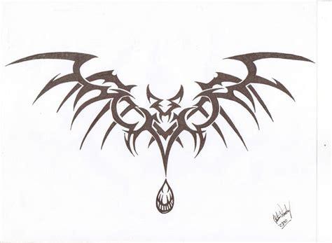 tribal bat tattoo tribal bat take three by lordnightwalker