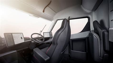 tesla inside tesla truck an look inside the electric semi fortune