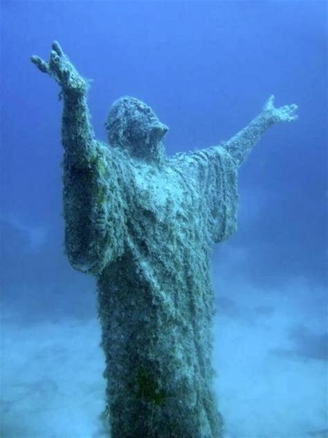 underwater malta why work in an office books quot underwater statue of jesus quot malta lost in silence