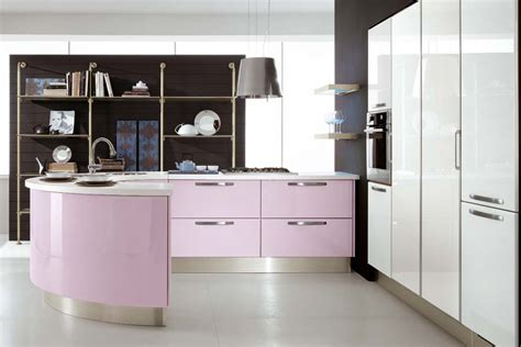 pink kitchen cabinets modern violet and pink kitchen by cucine lube digsdigs