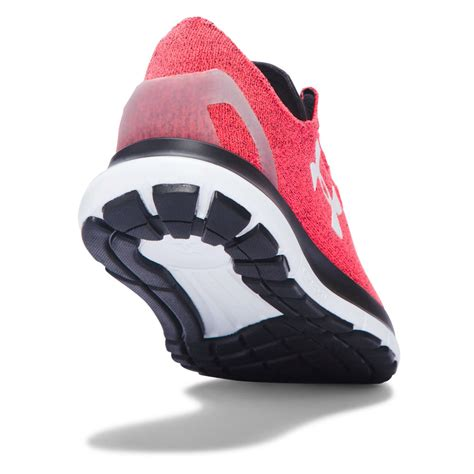cushioned athletic shoes armour speedform slingride womens pink cushioned