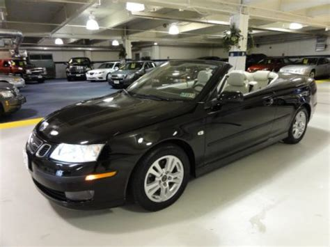 saab convertible black used 2006 saab 9 3 2 0t convertible for sale stock
