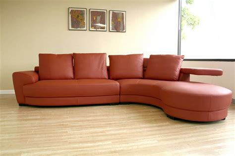 Leather Curved Sofa Wholesale Interiors 750 P8003 Leather Curved Sectional 750 P8003 At Homelement