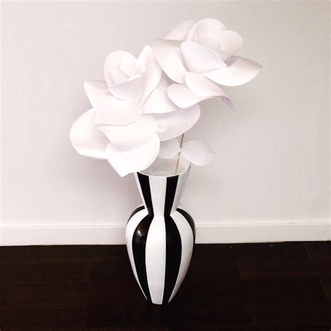 black white striped vase haute juice
