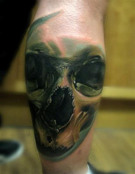 skull leg tattoo 51 brilliant skull tattoos for leg