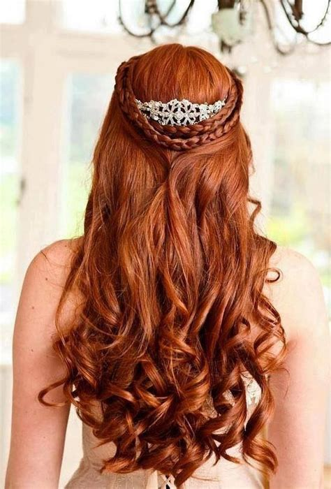 bridal hairstyles for red hair ginger long curly wavy hair ginger is beautiful