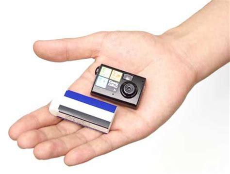 mini memories: tiny digital camera smaller than a matchbox