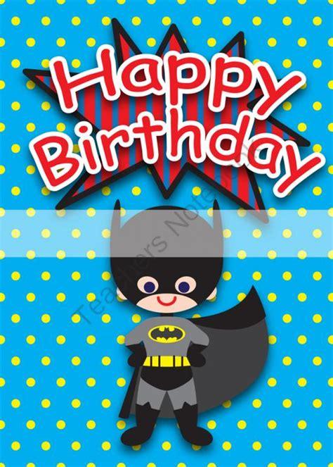 Printable Birthday Cards For A Boy | printable clipart digital pdf file superhero 5 x 7 inch