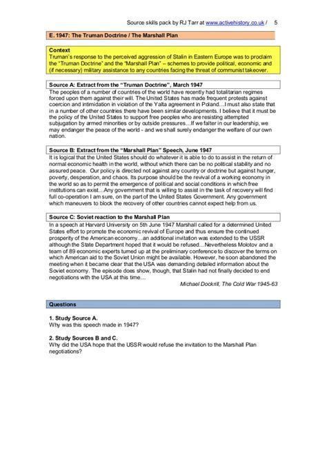Cold War Worksheets by Printables Origins Of The Cold War Worksheet Gozoneguide