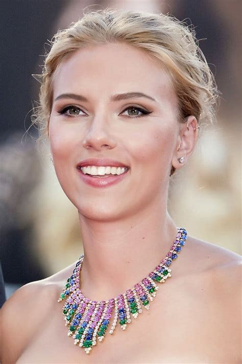 hair and makeup venice italy scarlett johansson is the epitome of elegance at venice
