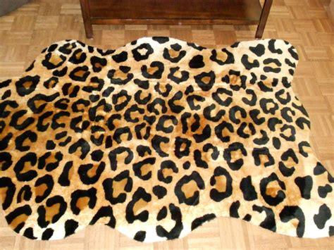 Leopard Rug Faux Fur Animal Skin Pelt Hide 5x7 New 167 Animal Rugs