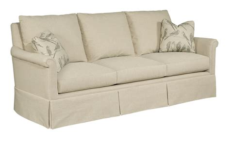 sofa with skirted base kincaid furniture modern select y12 87 customizable grand