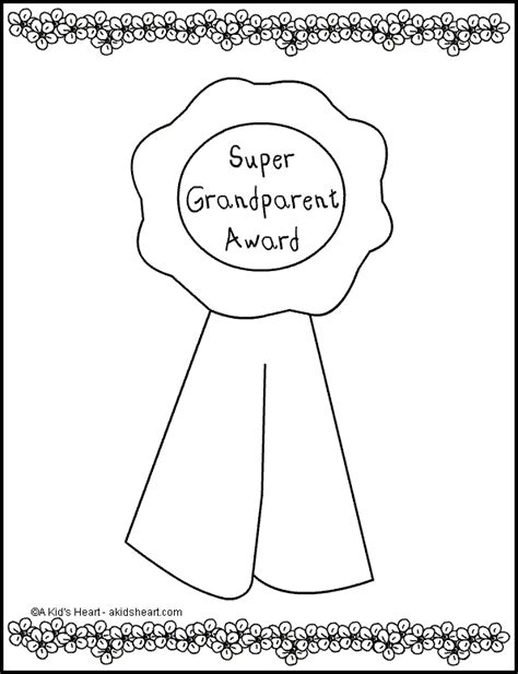 grandparent award coloring page