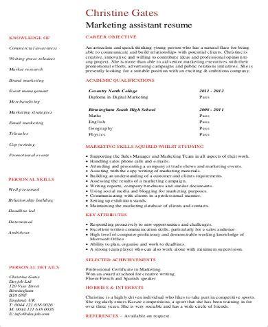 Marketing Skills Resume by 8 Sle Marketing Skills Resumes Sle Templates